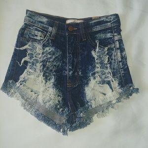 NWOT distressed Shorts